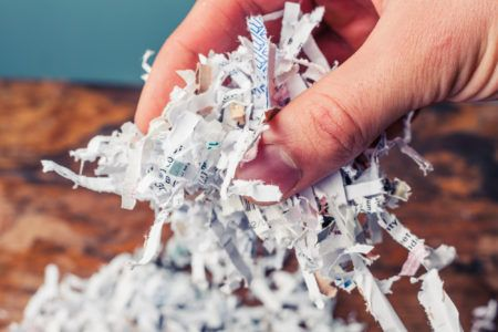 Why document shredding is important in the financial sector
