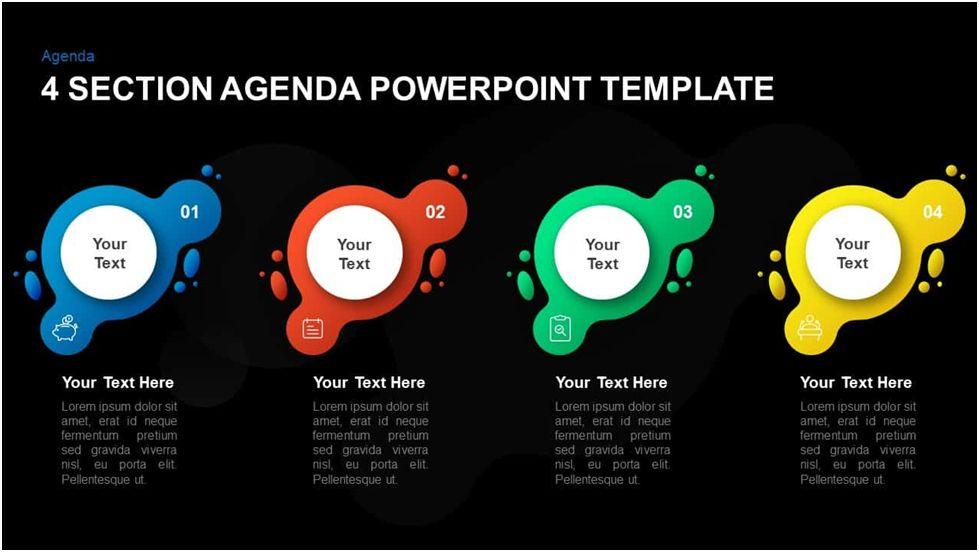 4 Step Agenda PowerPoint Template