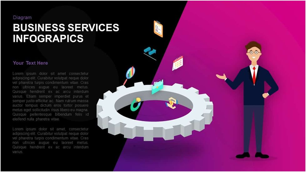 Business Services Infographics Template