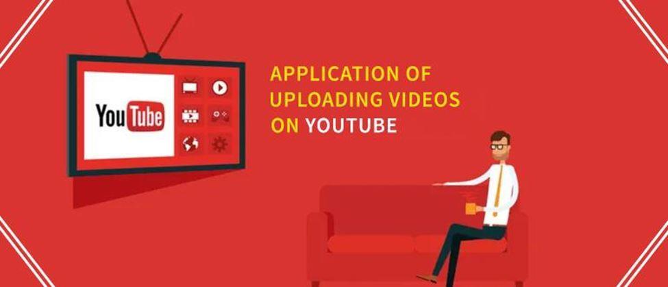 Application of uploading videos on YouTube