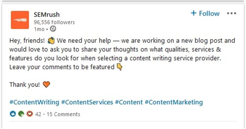 Add more hashtags while marketing